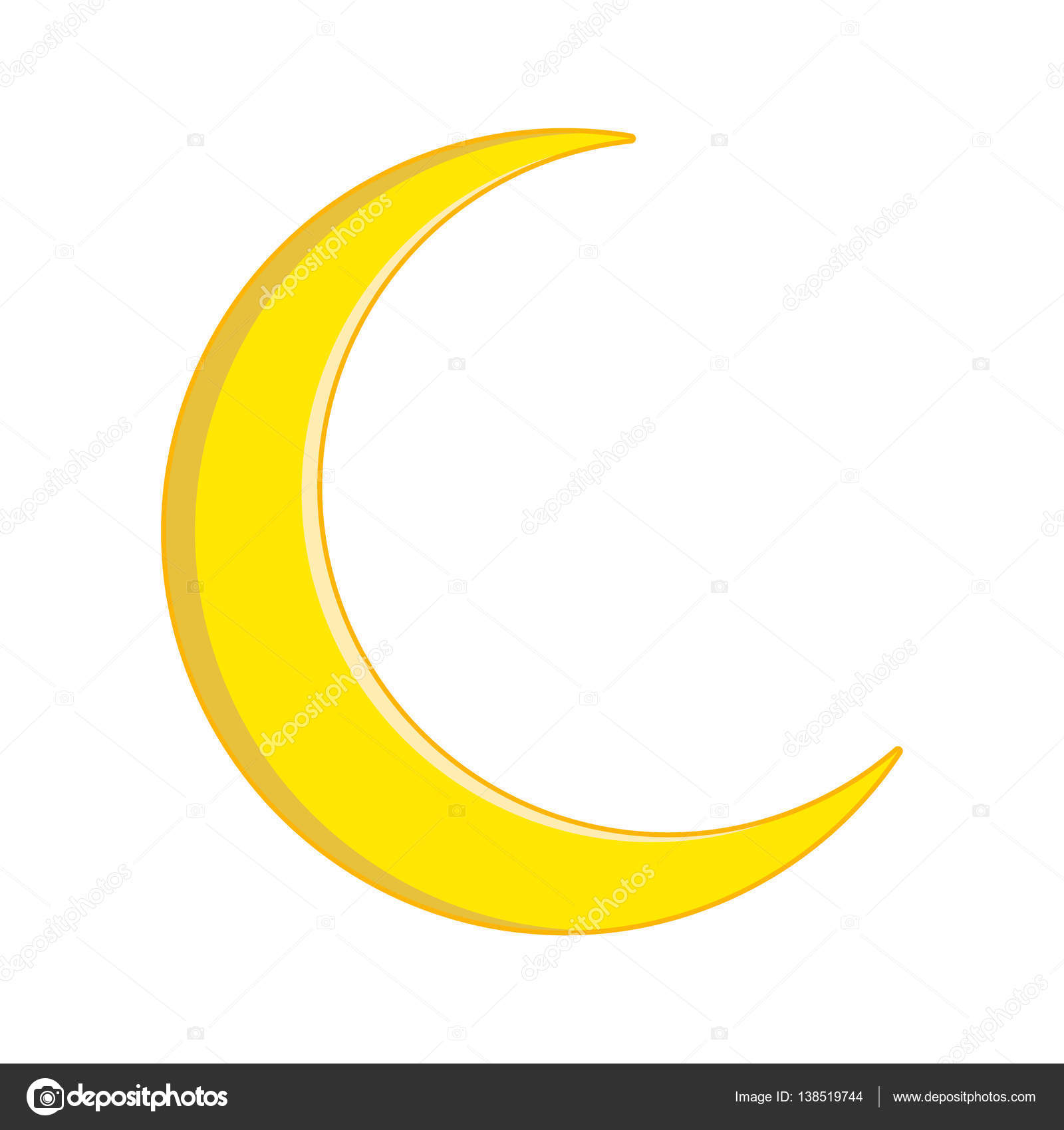 Crescent moon vector symbol icon design stock vector newelle crescent moon vector symbol icon design beautiful illustration isolated on white backgroun vector by newelle biocorpaavc Gallery