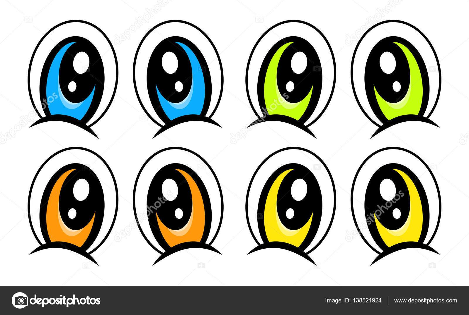 Cartoon Eyes Set Vector Symbol Icon Design Stock Vector C Newelle 138521924