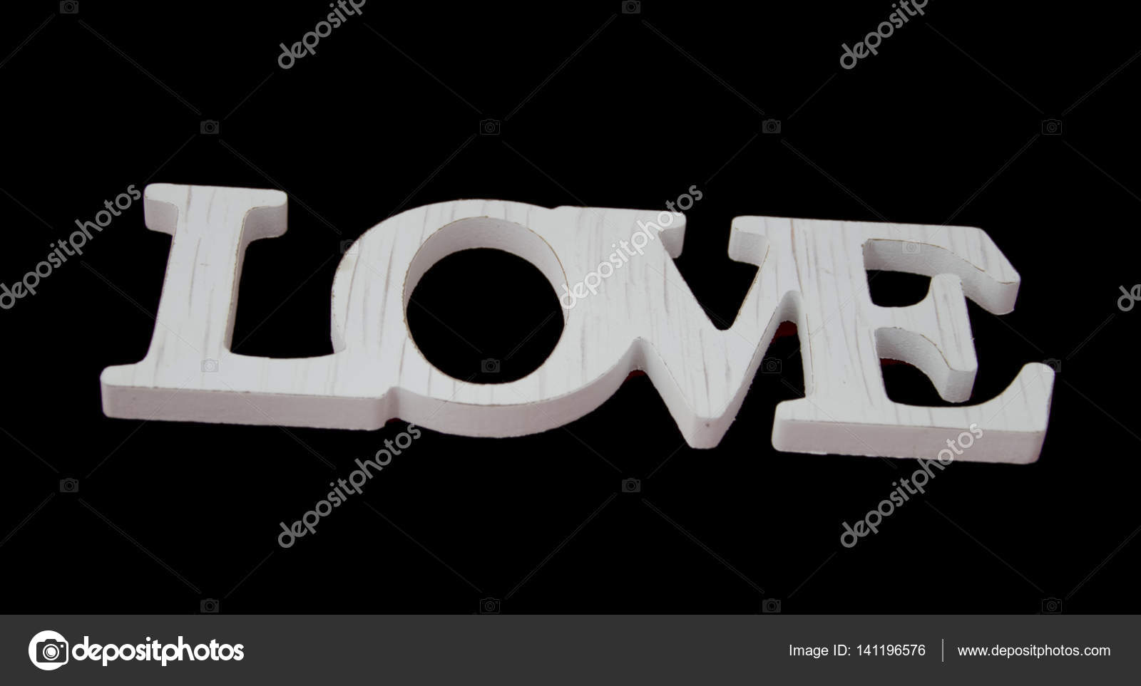Sinal De Amor Isolado No Design De Papel De Parede Preto