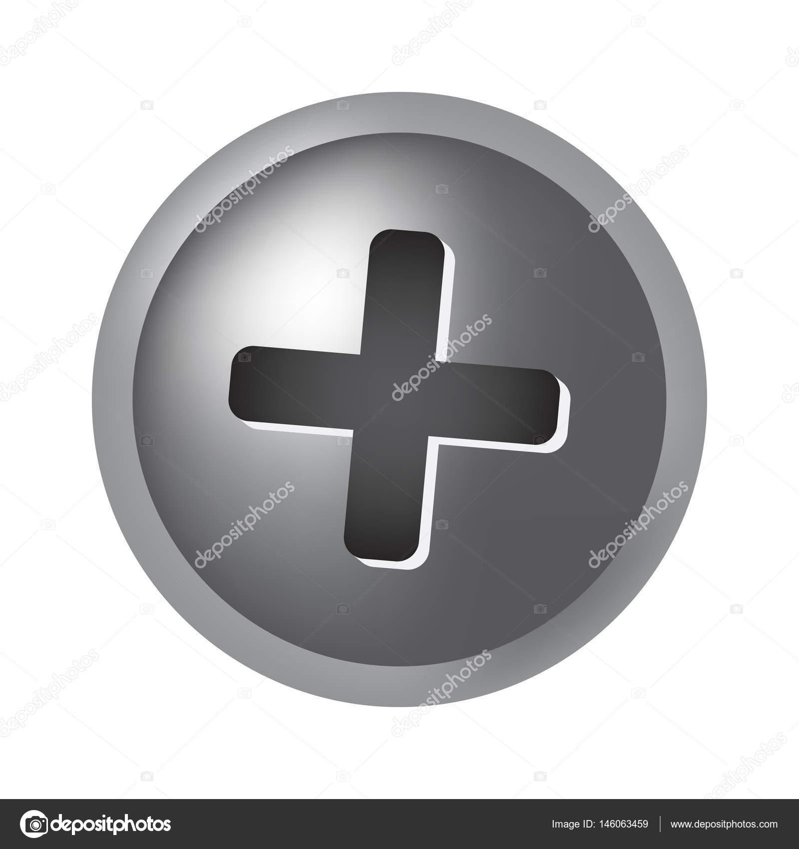 Schraube-Kopf Vektor-Symbol-Icon-design — Stockvektor © newelle ...