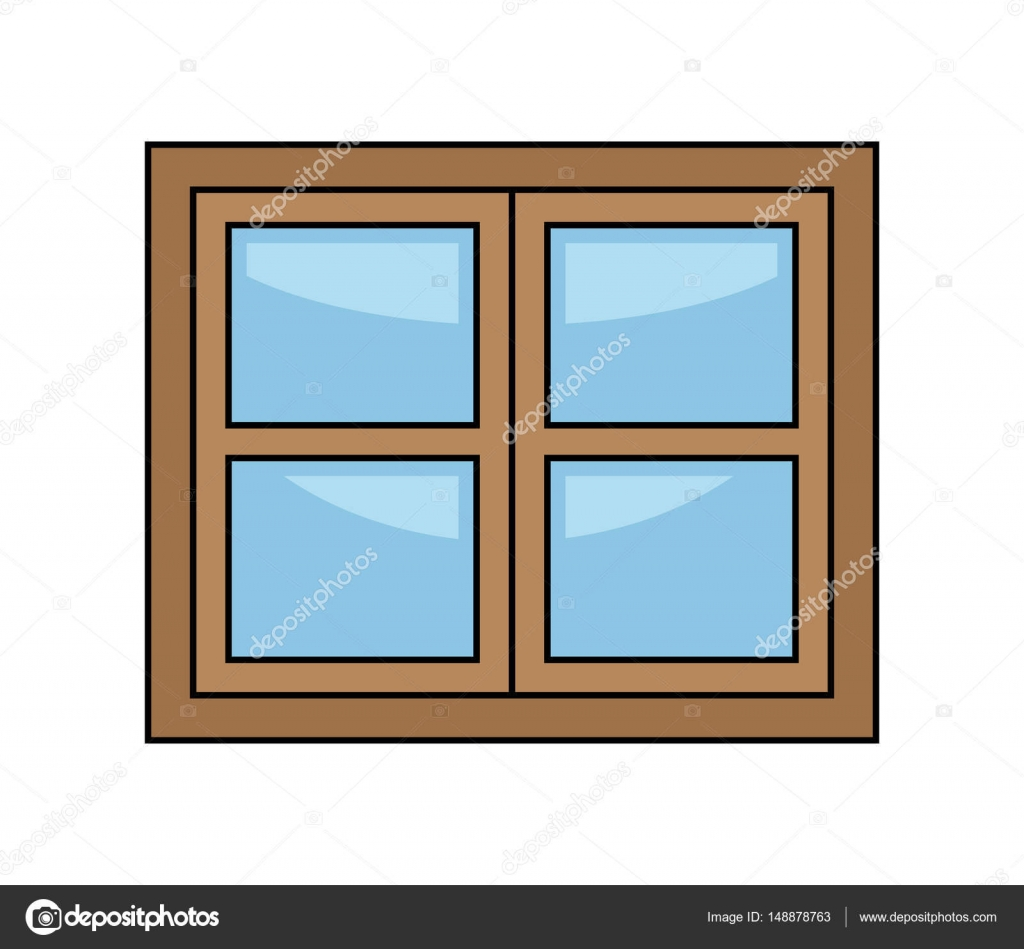 Okno kreslen vektorov symbol ikonu design stock vektor for Window design cartoon