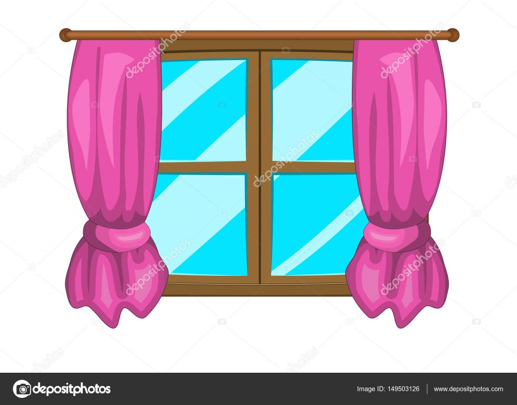 cartoon venster met gordijnen vector symbool pictogram elk clip art for cnc elk clip artist for free