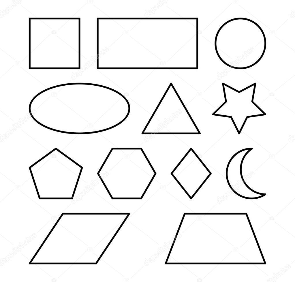 formes g om triques vector design ic ne symbole image vectorielle newelle 152441180. Black Bedroom Furniture Sets. Home Design Ideas