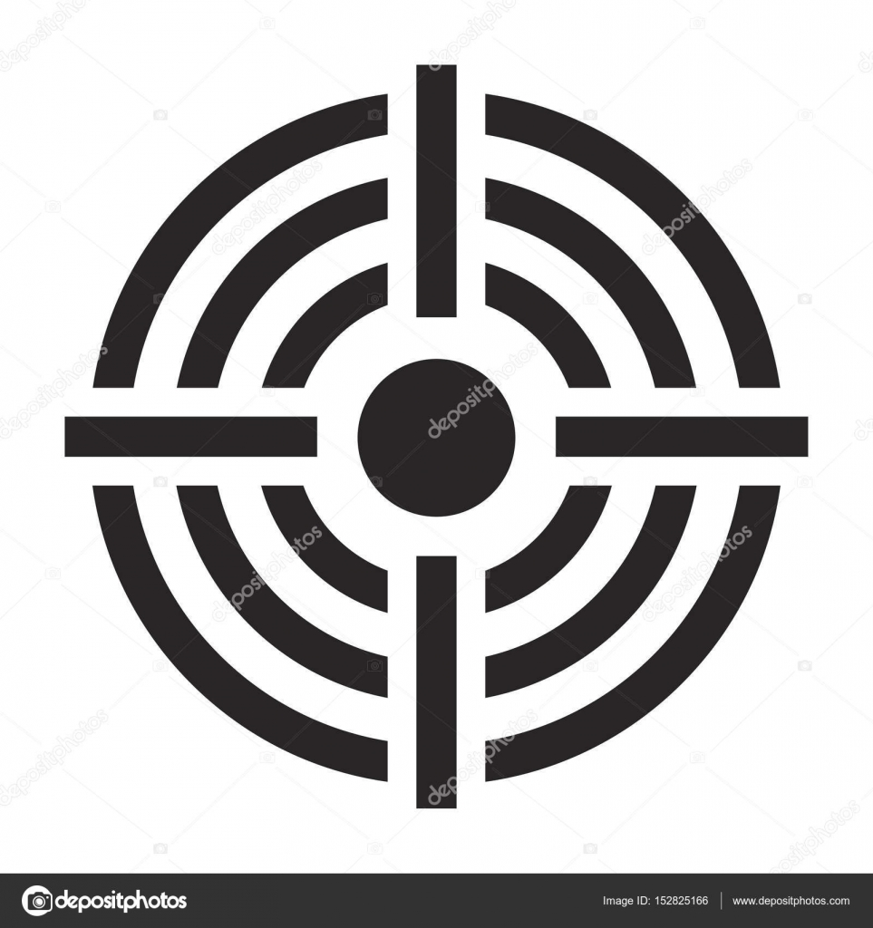 Crosshair target vector symbol icon design stock vector crosshair target vector symbol icon design beautiful illustration isolated on white backgroun vector by newelle buycottarizona Image collections