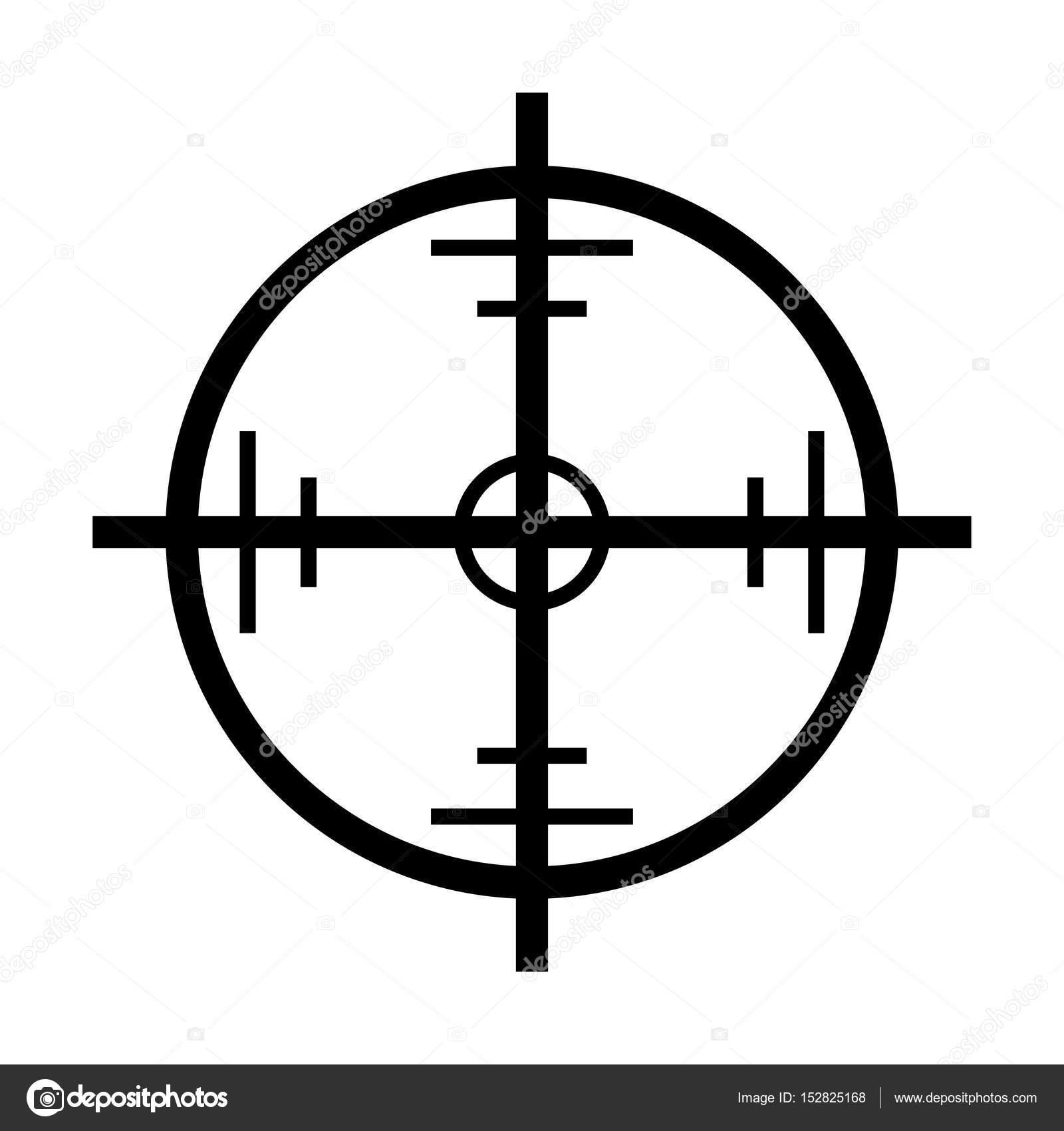 crosshair target vector symbol icon design stock vector newelle rh depositphotos com crosshair vector art crosshair vector free download