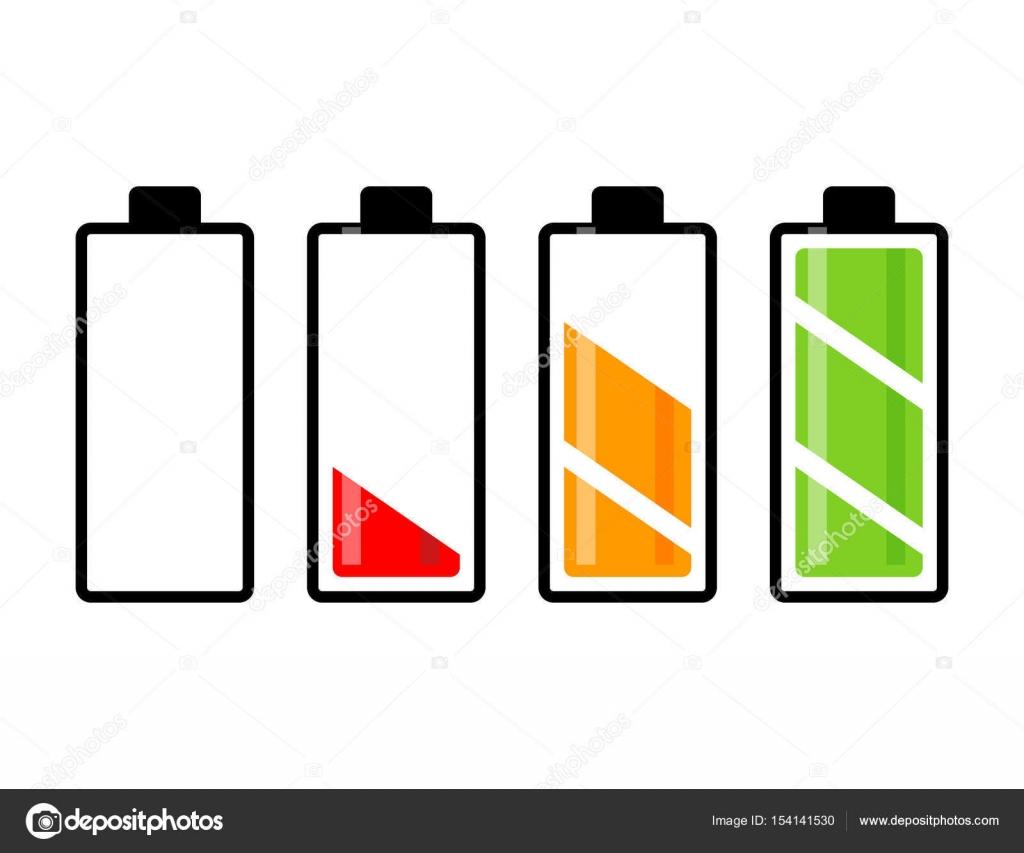 Akku Ladung Pegelvektors Symbol Icon-Design. Schöne Abbildung ...