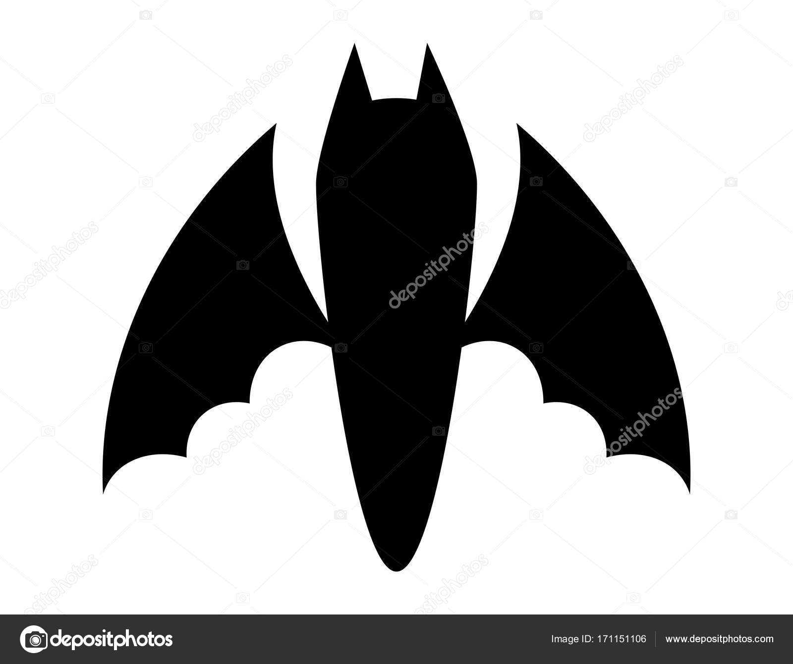 halloween bat silhouette vector design isolated on white backgr stock vector