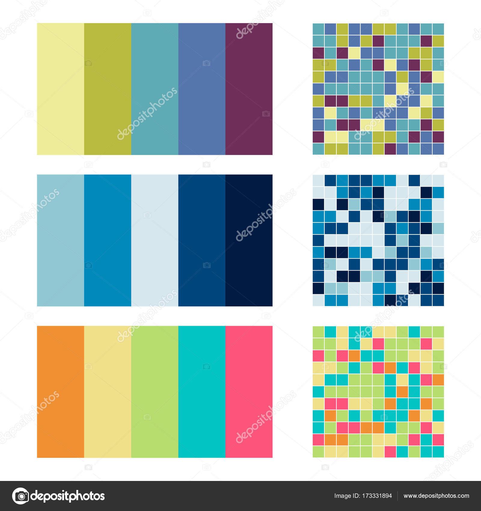 Wszystkie nowe Paleta kolorów Ustaw tło. Harmonia kolorów widma combo — Grafika IV15