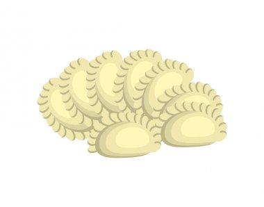 dumplings cartoon design isolated on white background