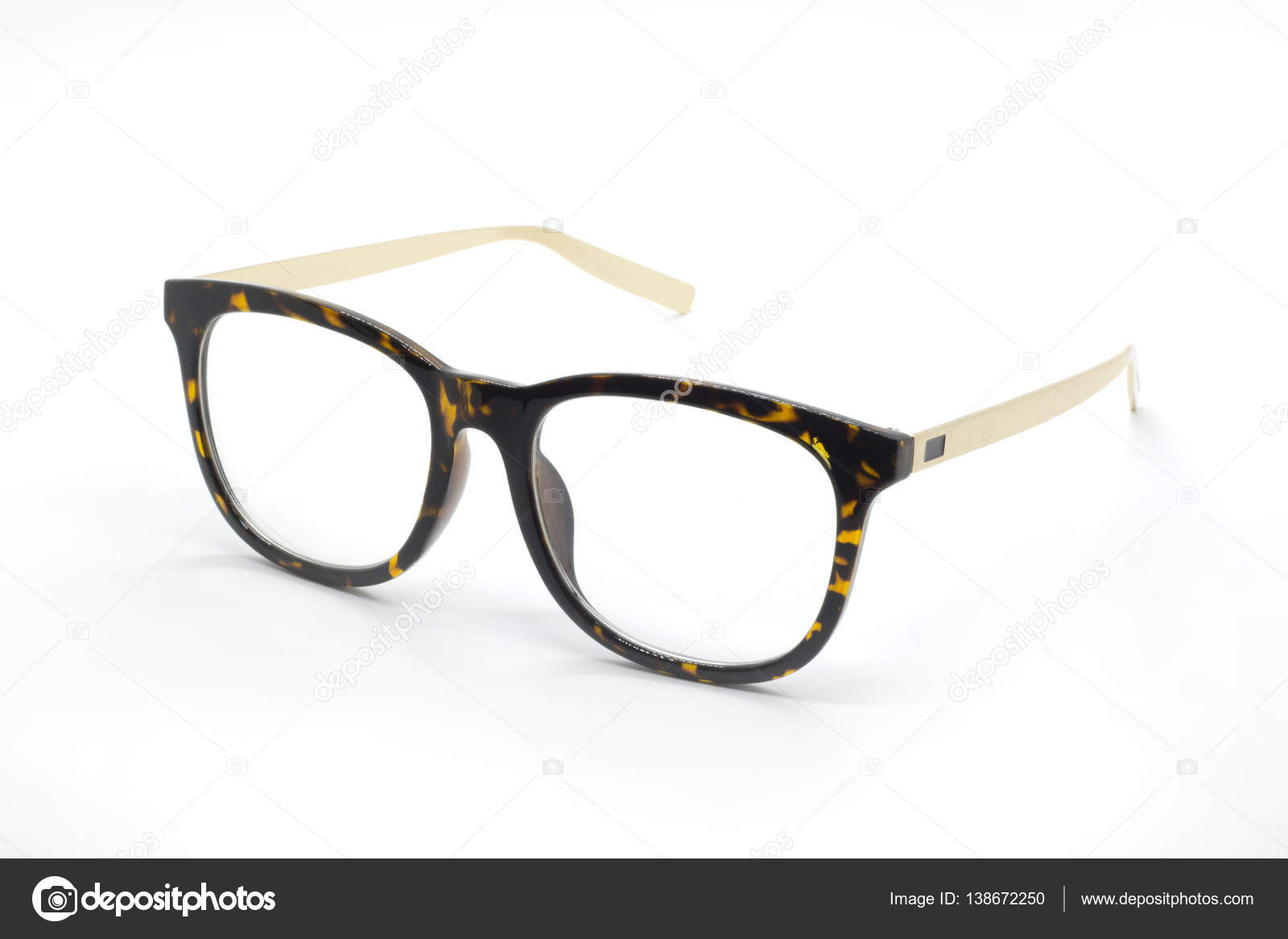 c5cac3a5e375 Modern fashionable spectacles isolated on white background