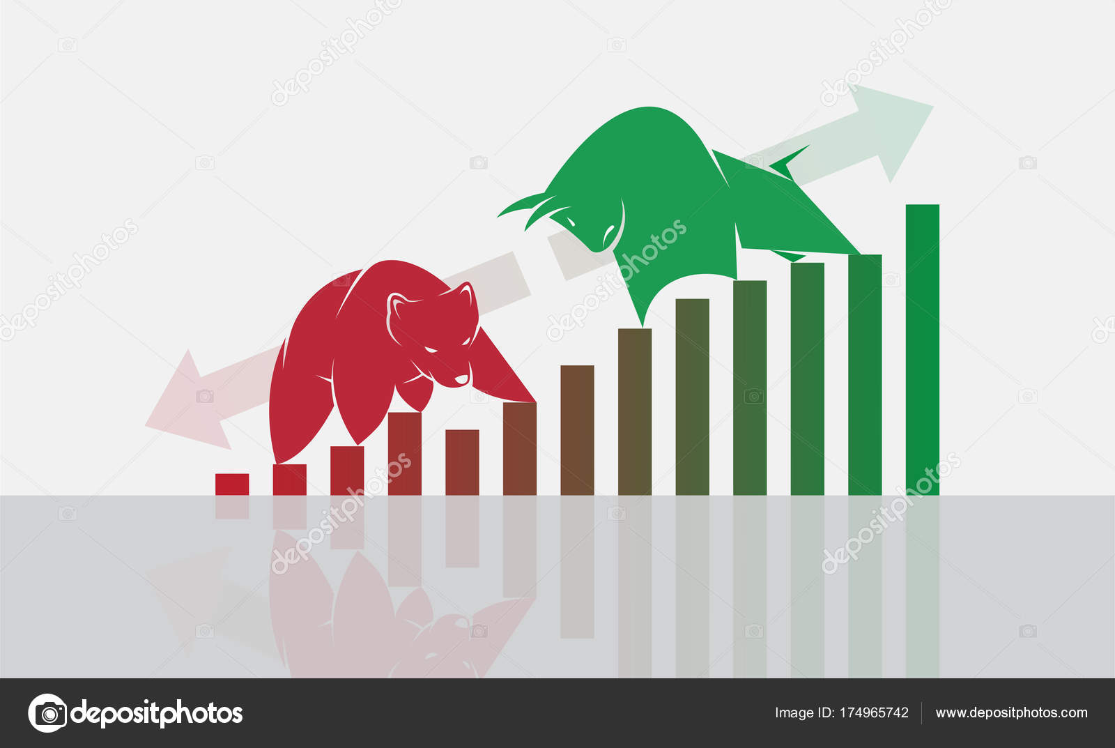 Vector of bull and bear symbols of stock market trends the grow vector of bull and bear symbols of stock market trends the grow stock vector buycottarizona Gallery