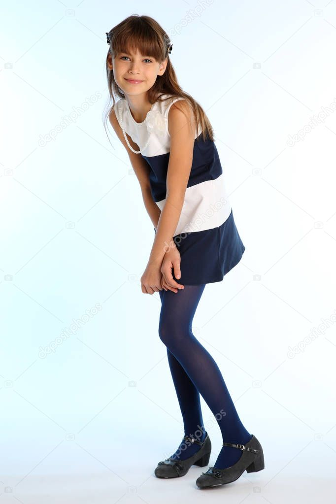 Full Body Portrait Beautiful Young Woman Royalty Free