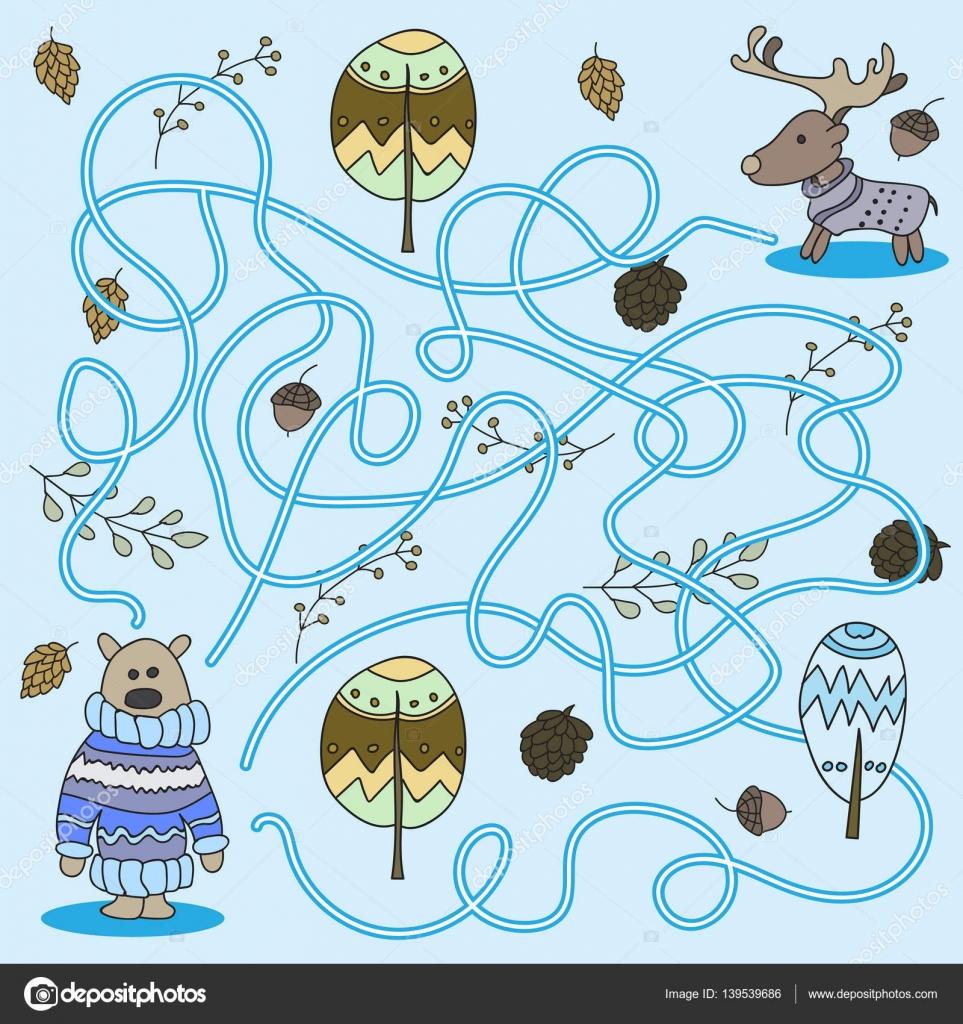 Juegos Infantiles Bosque Fantasia Dibujos Animados De Educacion