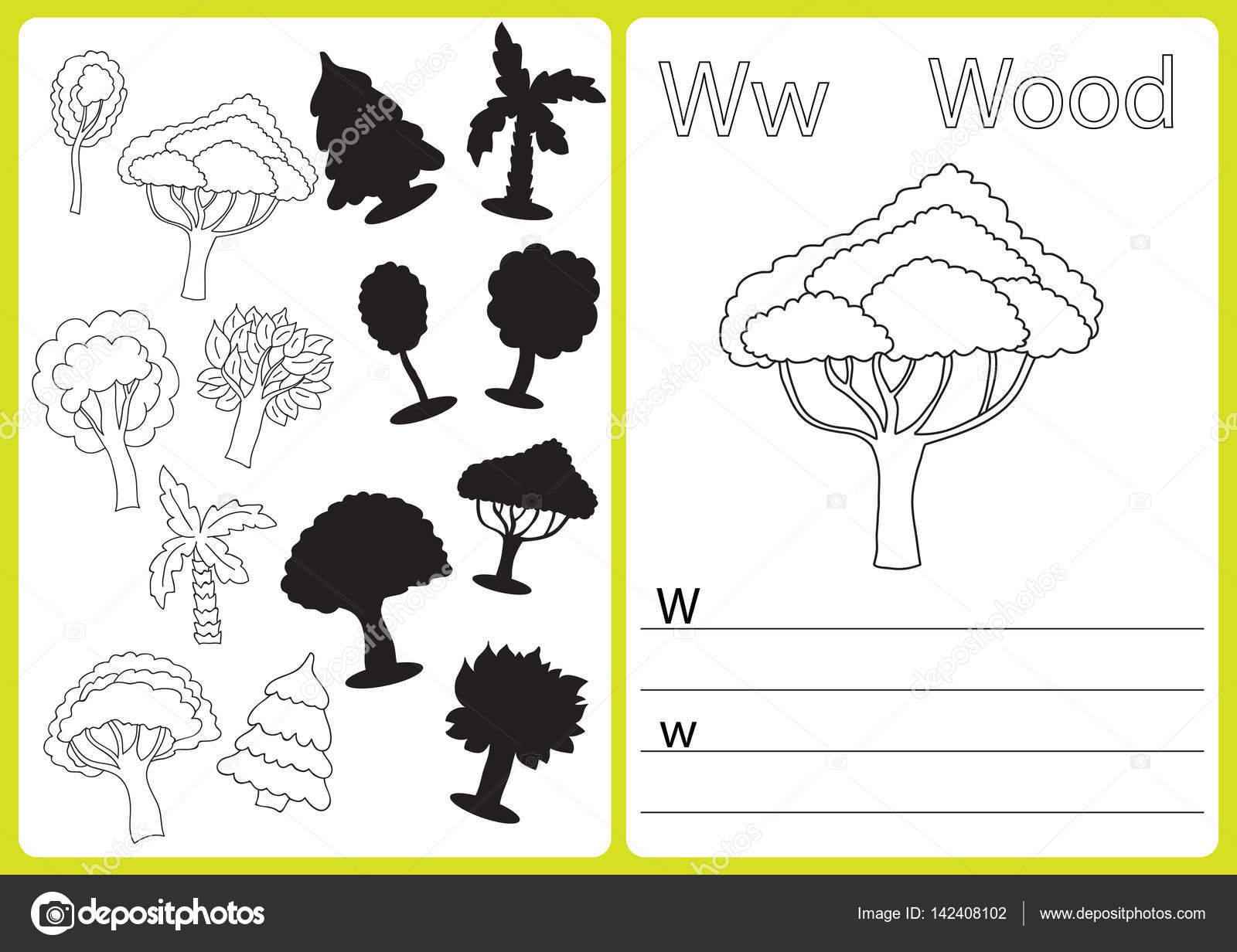 Alphabet A-Z - Rätsel-Arbeitsblatt Übungen für Kinder - Malbuch ...