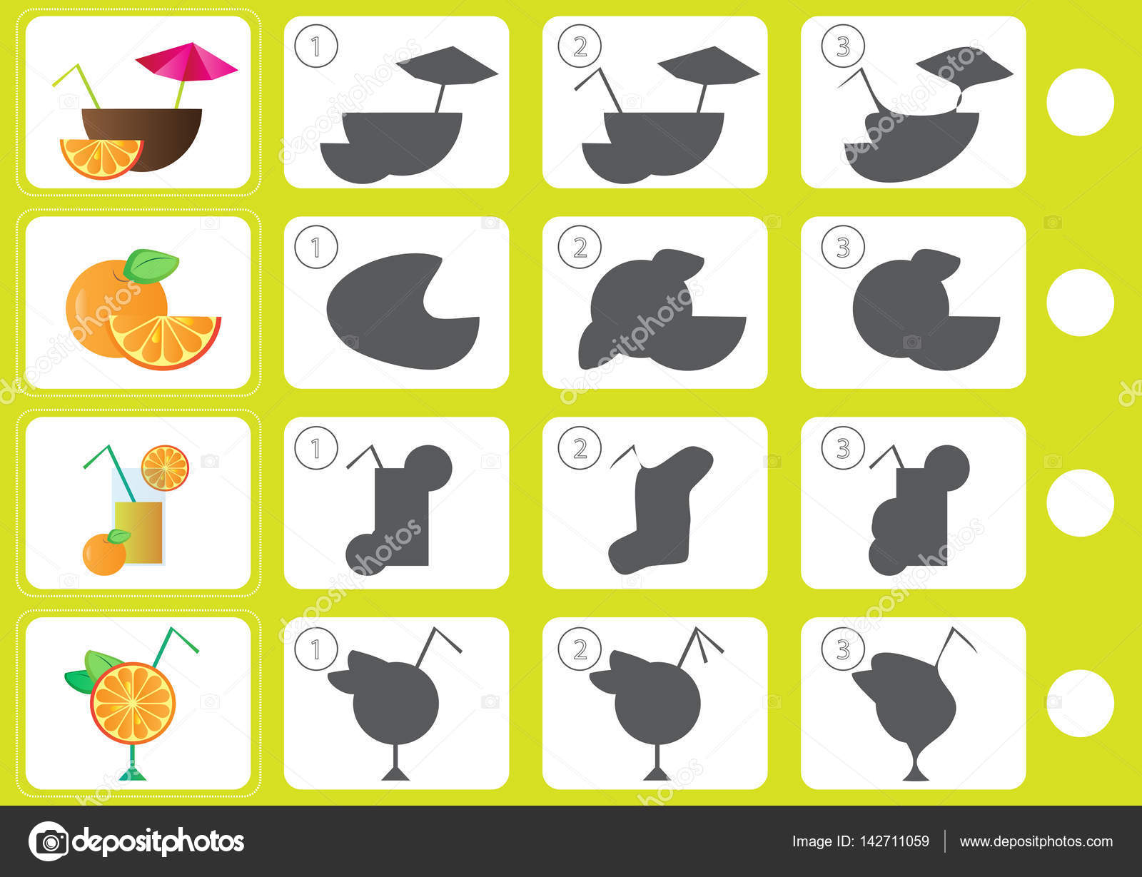 Spiel Schatten - Arbeitsblatt für Bildung — Stockvektor © Brill ...