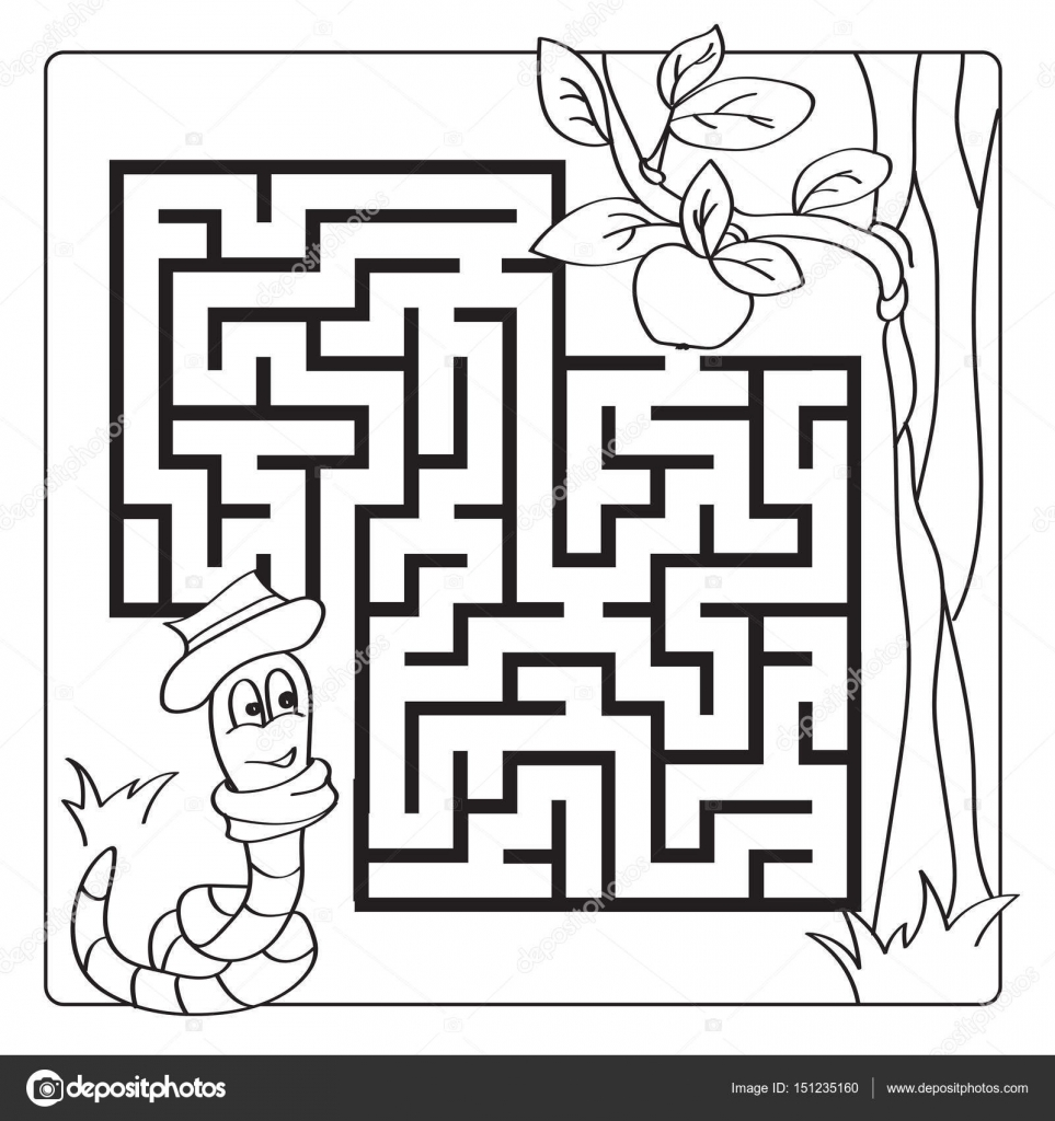 labyrinth  maze for kids  entry and exit  children puzzle game
