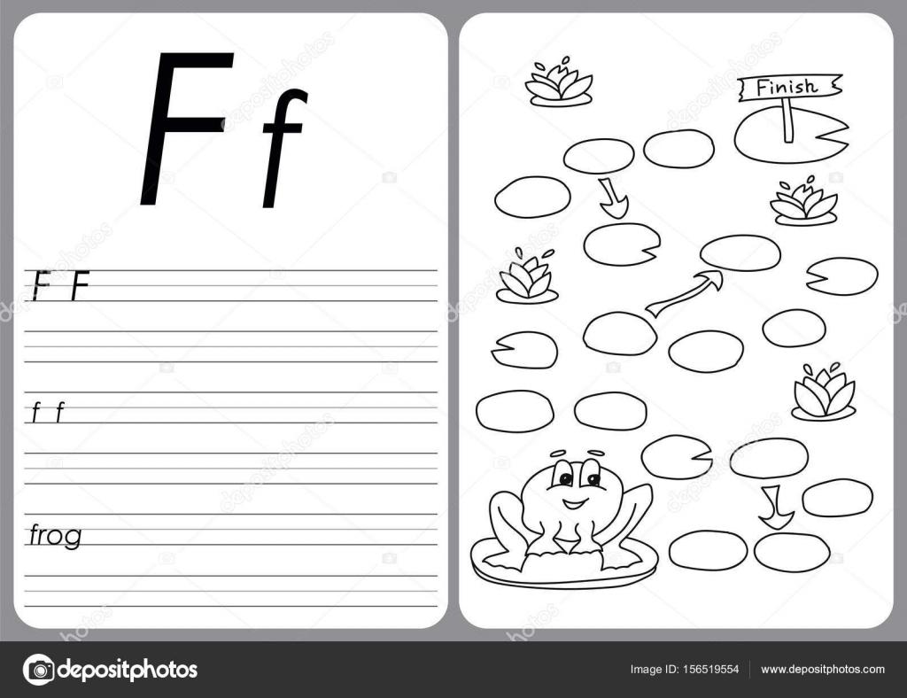 Cartoon-Frosch-Spiel. Vektor Buch Malvorlagen — Stockvektor © Brill ...