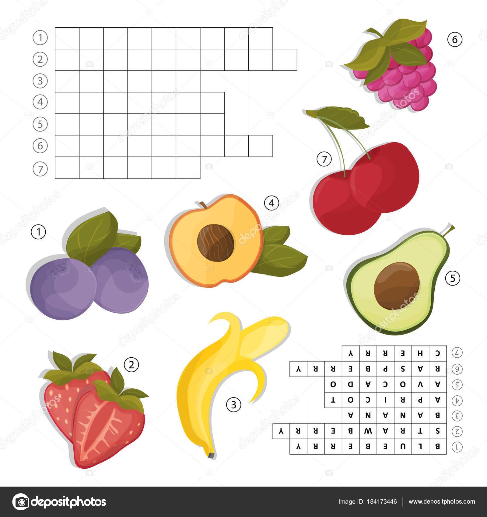 Imágenes Crucigrama De Frutas En Ingles Crucigramas Para