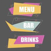 Sada doplňu - banner pro bar menu šablony návrhu. Vektorové ilustrace
