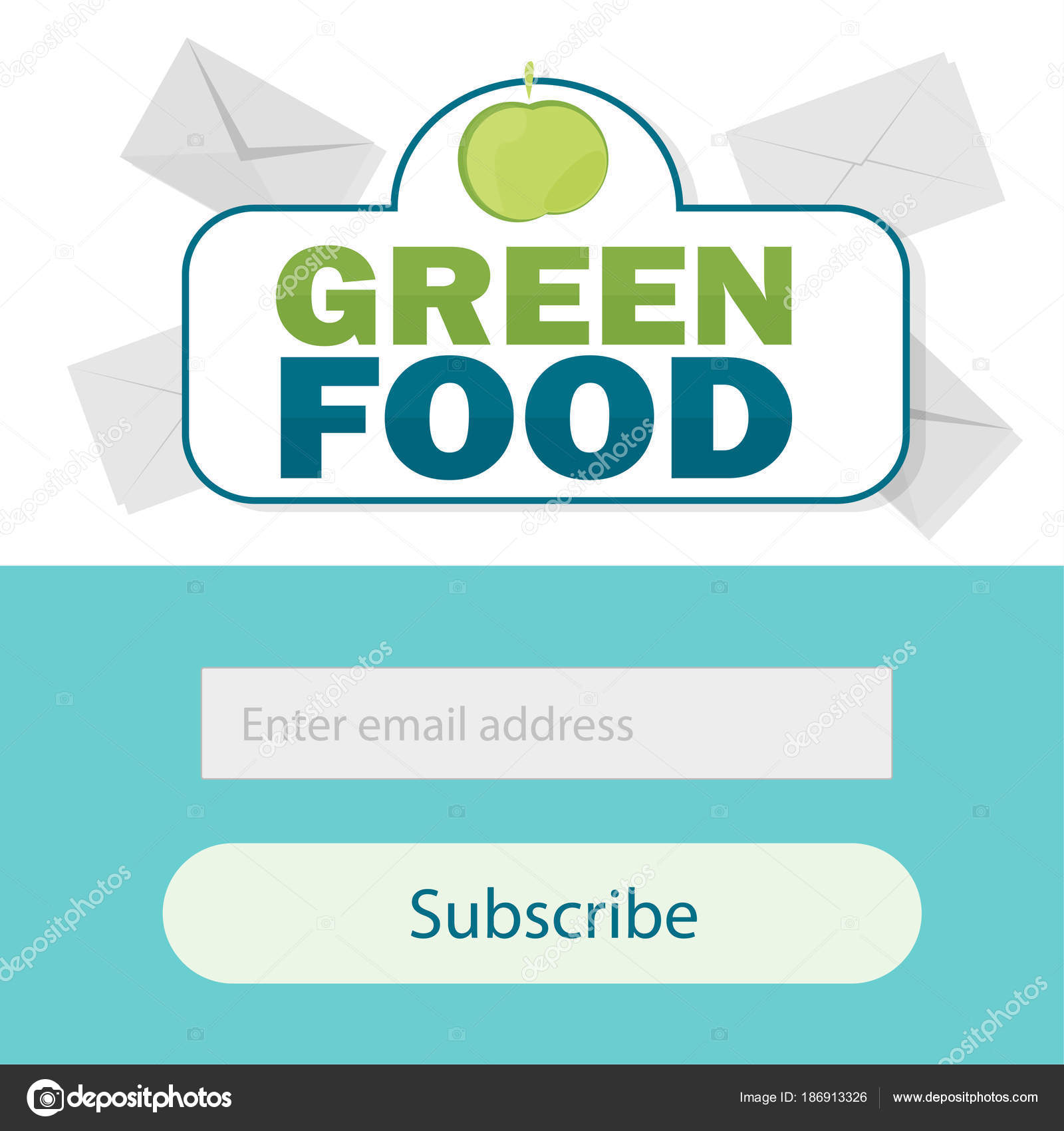 Vector Template Email Subscribe Submit Form For Website Email