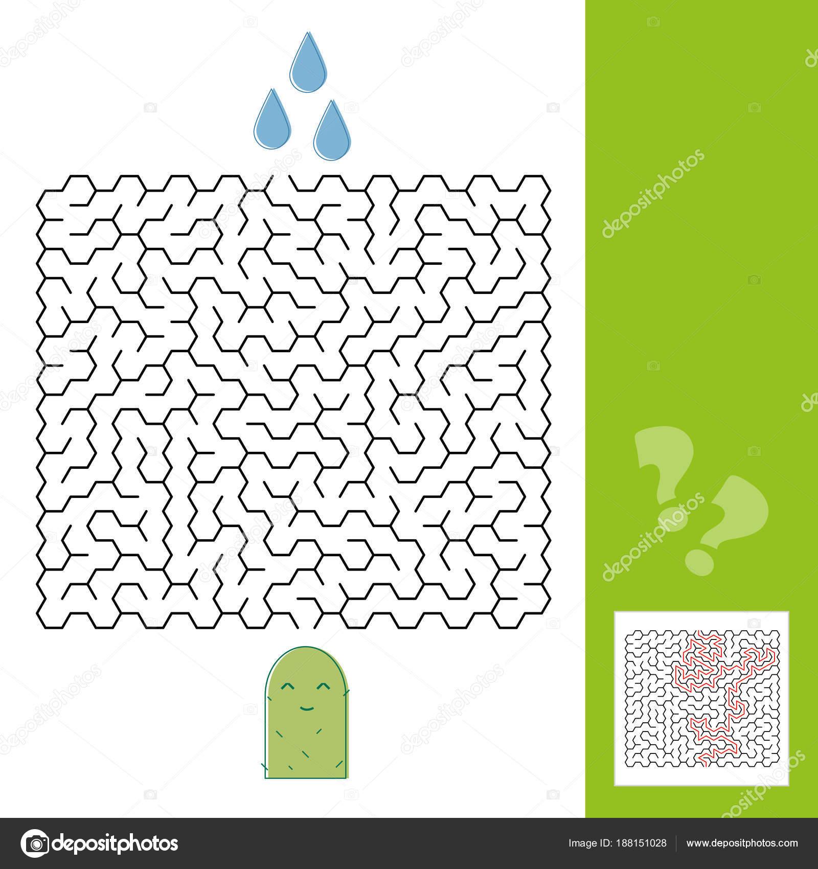 Dibujos Arabes Faciles Cactus Y Agua Laberinto De Juego Para Los