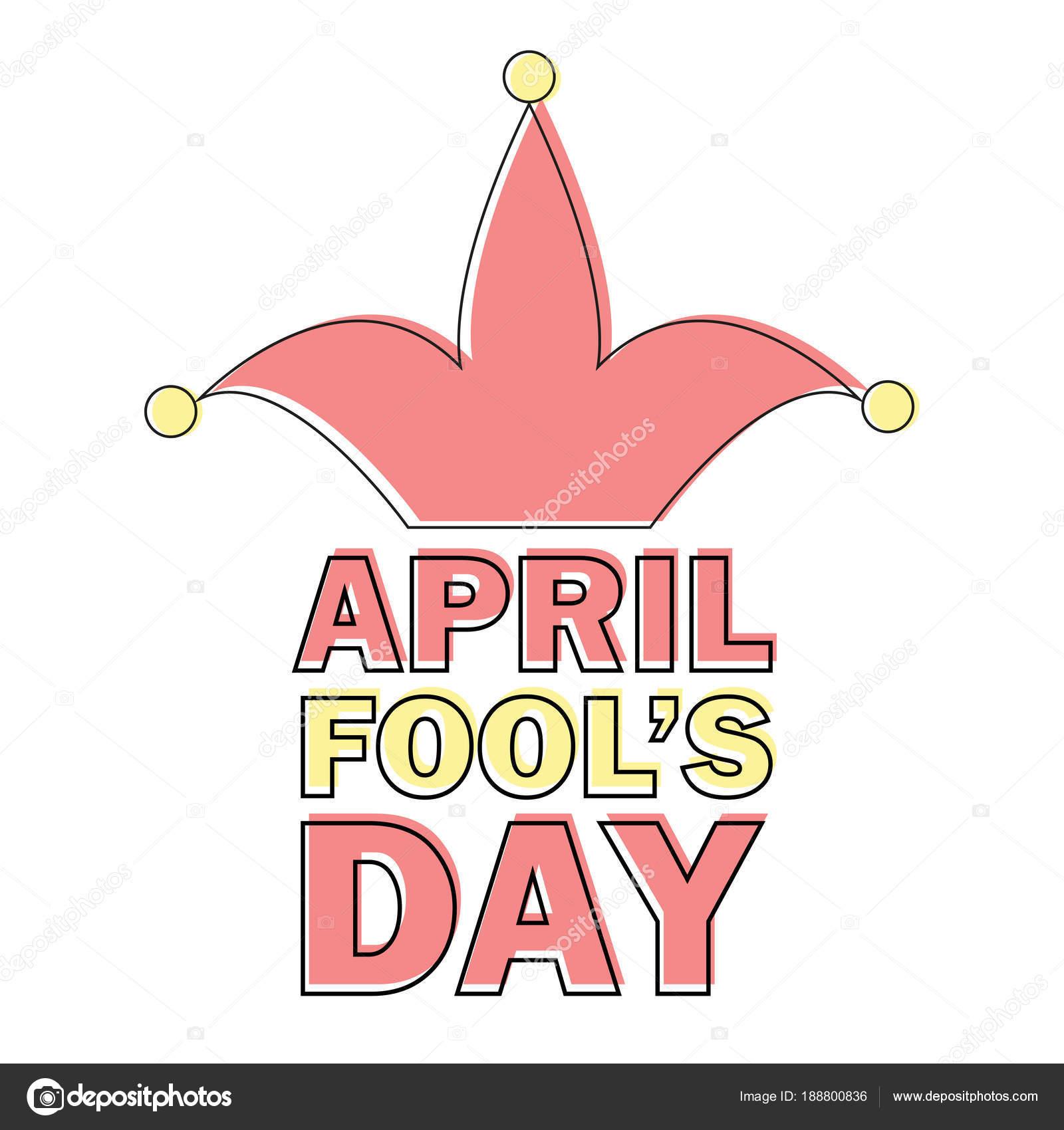 April Fools Day Text und lustige Element-Vektor-Illustration für ...