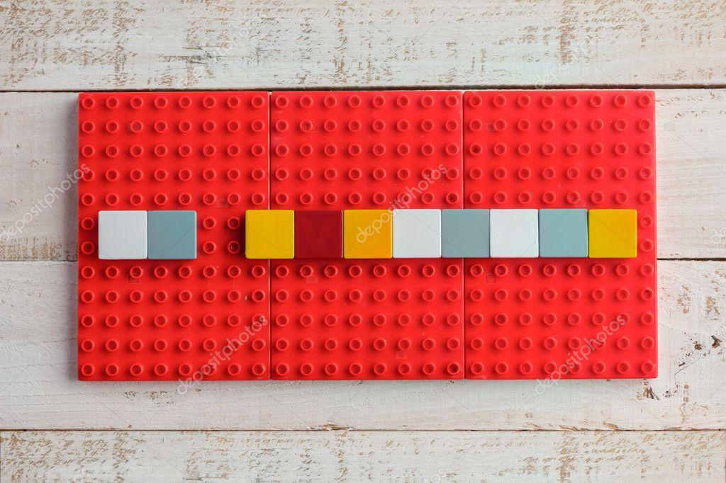 Word-Block-Vorlage — Stockfoto © whyframeshot #126341734