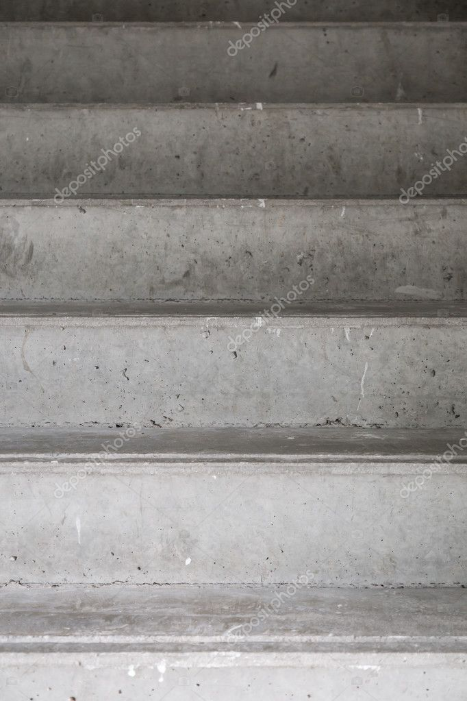 Step Of Concrete Stair On A Top And Front View U2014 Stock Photo #128059692
