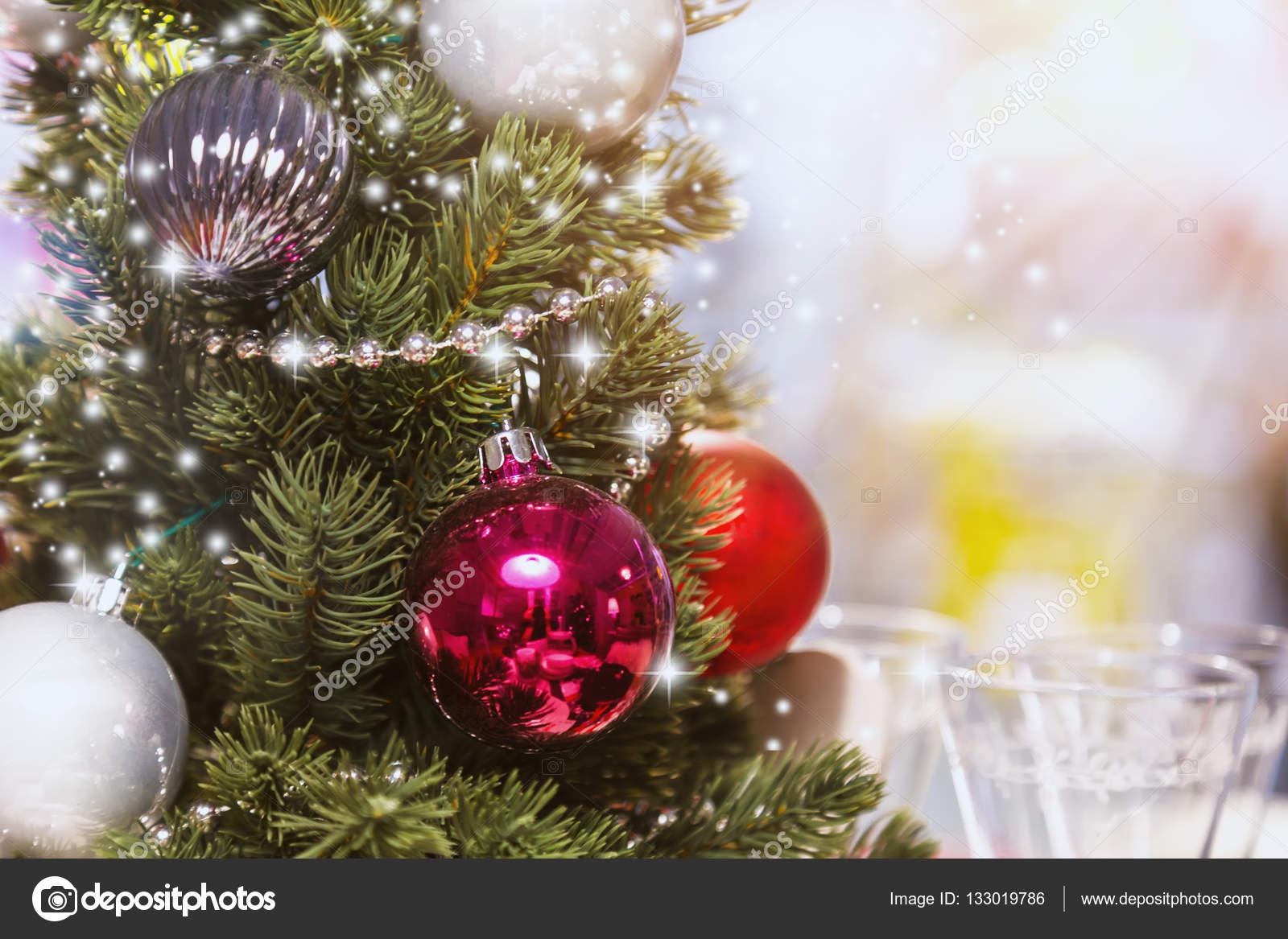 Weihnachten Hintergrund de fokussierten Scheinwerfer mit ...