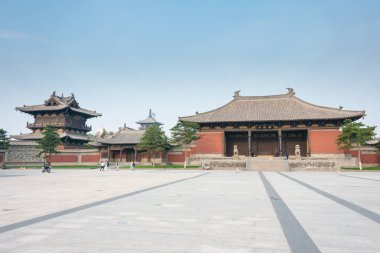SHANXI, CHINA -  Sept 25 2015: Huayan Temple. a famous historic site in Datog, Shanxi, China.