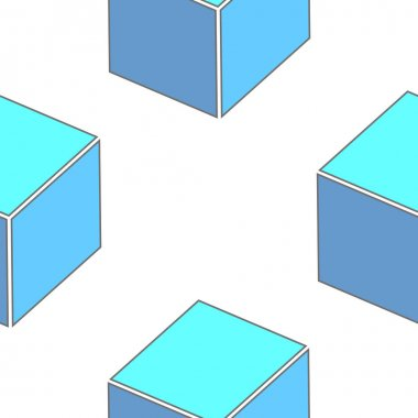Abstract seamless 3d cubes pattern
