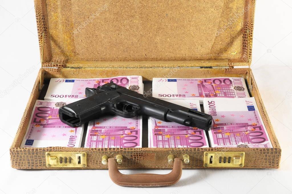 valise pleine de billets de banque — Photographie underworld1 © #133449306