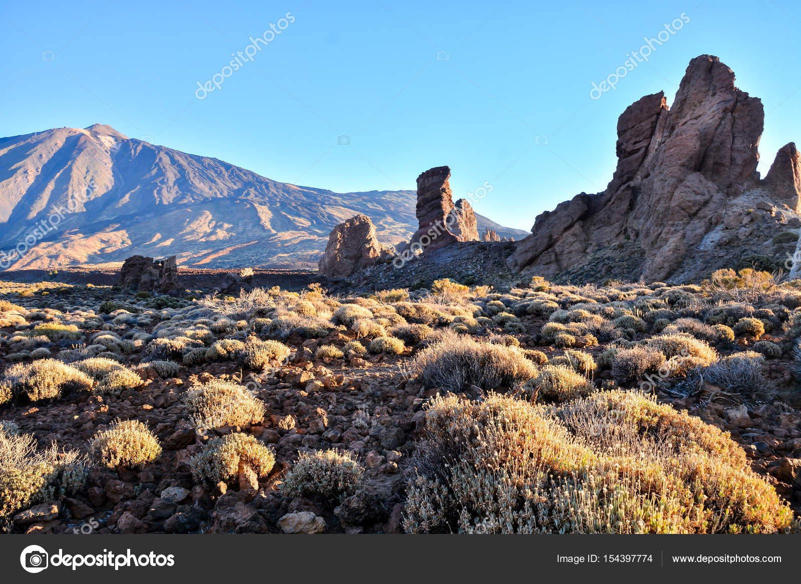El Teide Nationalpark Teneriffa Stockfoto Underworld1 154397774