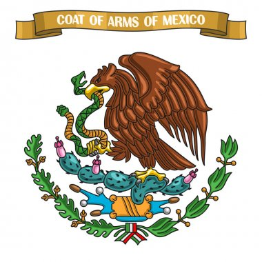 Vector illustration on theme Mexican Coat of Arms