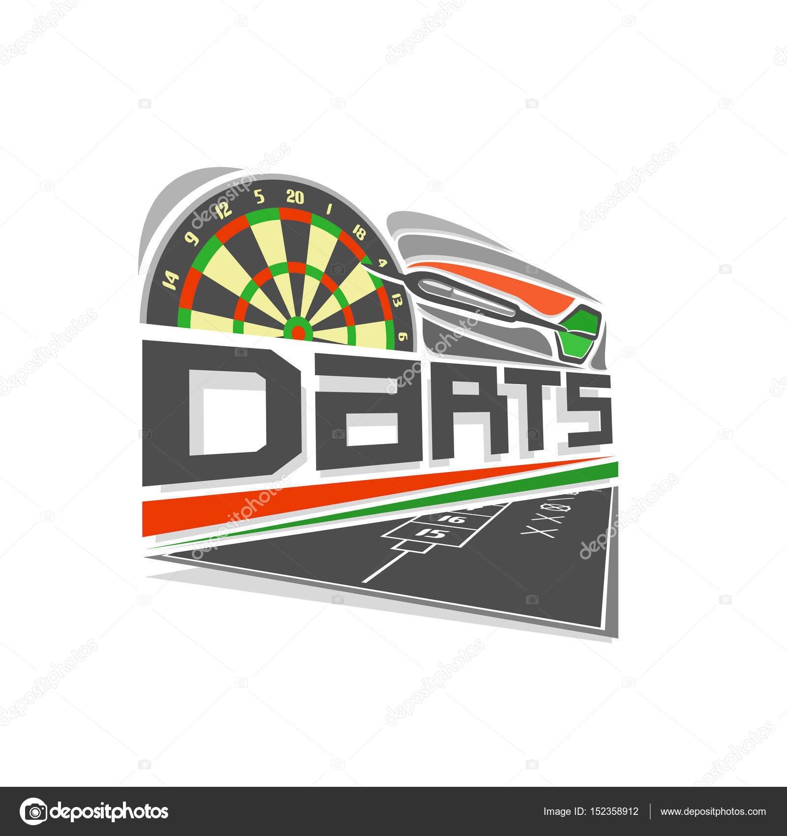 Vector Logo Voor Darts Spel Stockvector C Mihmihmal 152358912