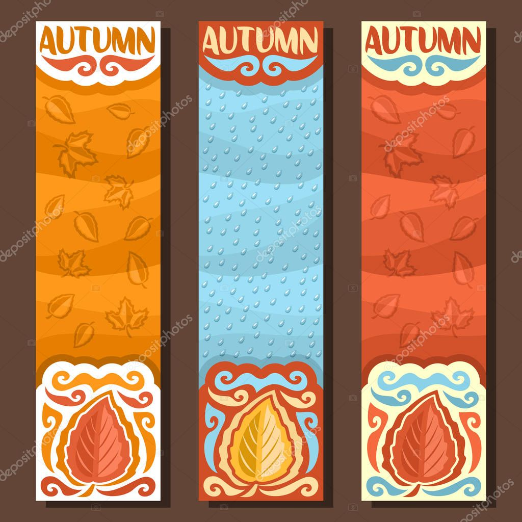Vector set vertical banners for Autumn season