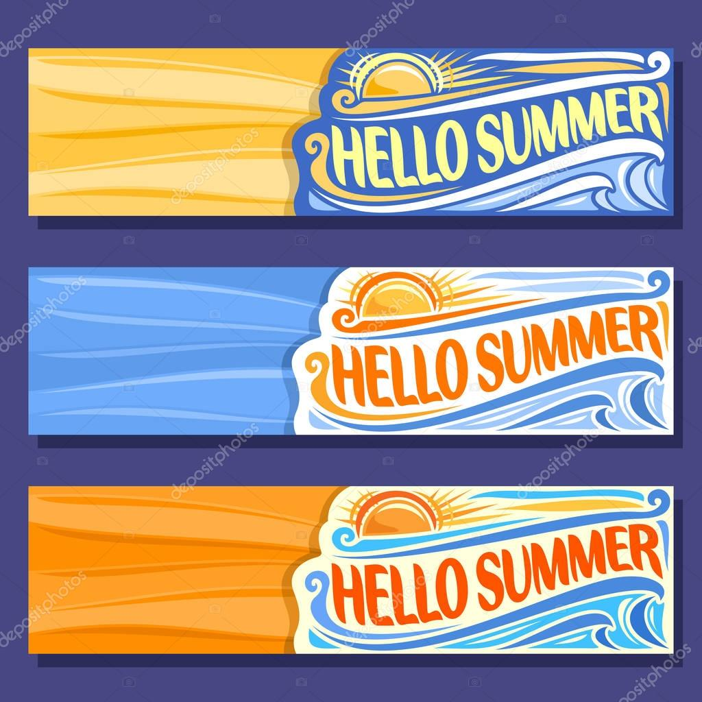 Vector horizontal banners for Summer season