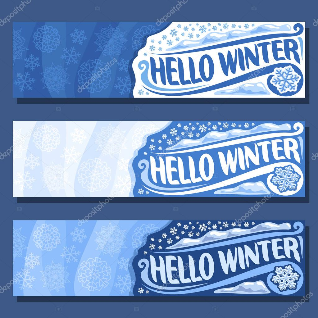 Vector horizontal banners for Winter season
