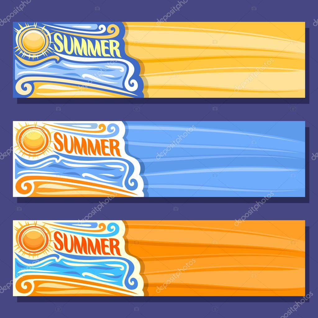 Vector set horizontal banners for Summer season