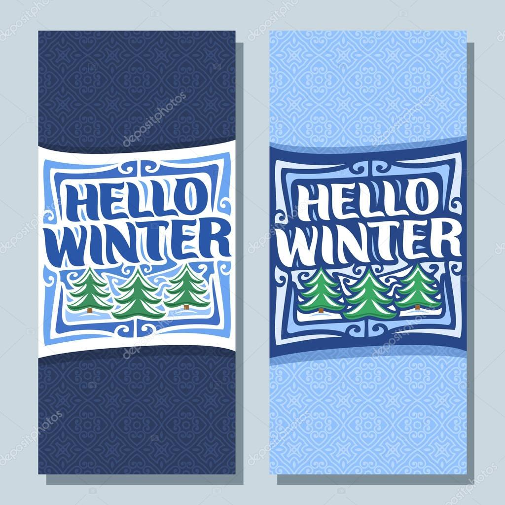 Vector vertical banners for Winter season