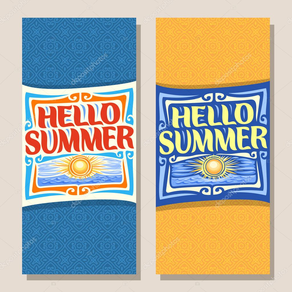 Vector vertical banners for Summer season