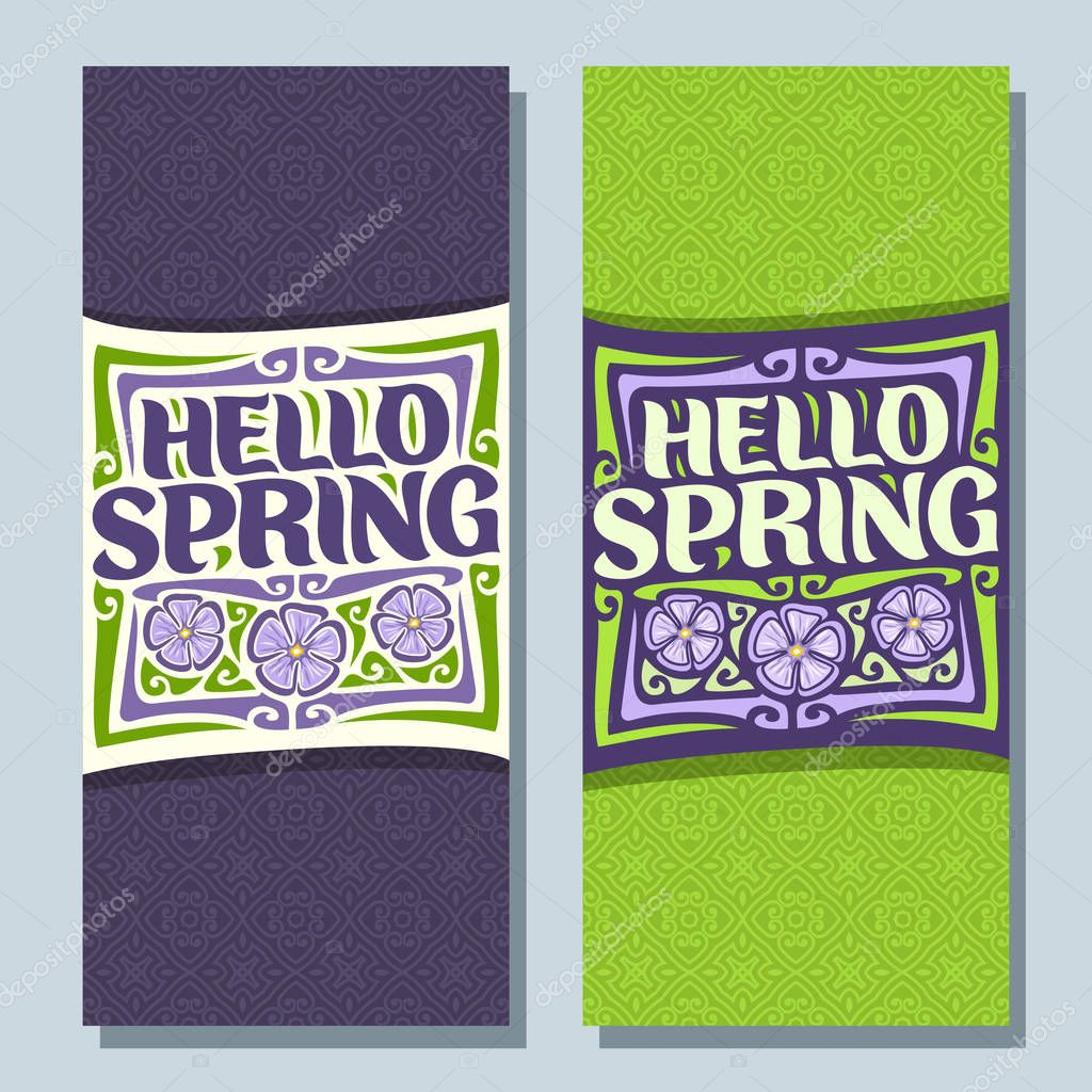Vector vertical banners for Spring season