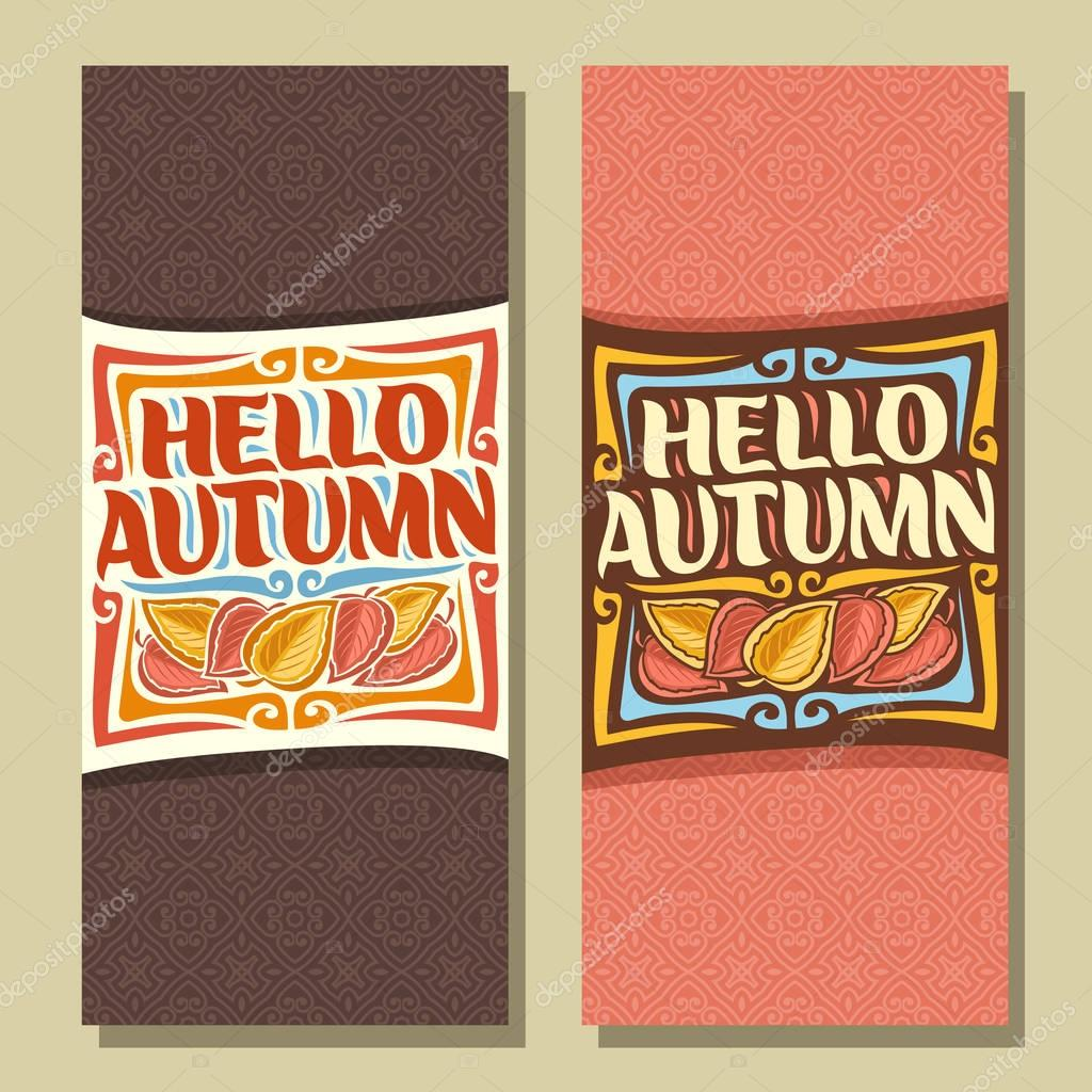Vector vertical banners for Autumn season