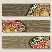 Fotografie Vektor-Reihe von Bannern, Glücksspiel Casino