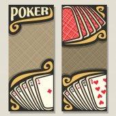 Fotografie Vektor vertikale Banner für Poker