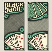 Fotografie Vektor-Banner für Blackjack