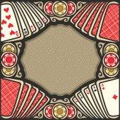 Fotografie Vektor-Plakat für Poker