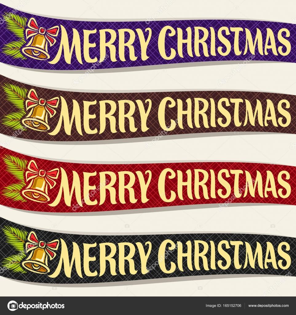 Vektor Bänder Für Die Weihnachtsfeiertage Stockvektor Mihmihmal