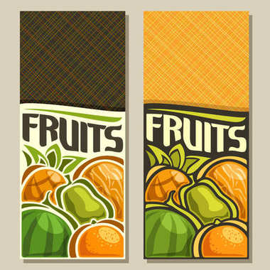 Vector vertical banners for Fruits
