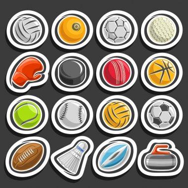 Vector set of Sports Balls